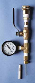Pressure Ram Gauge 0 to 100 psi